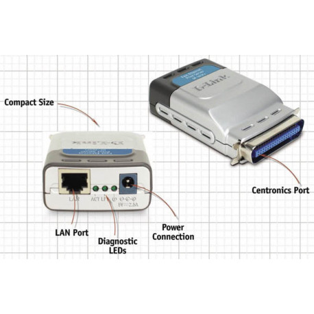 پرینت سرور دست دوم دی-لینک مدل D-Link DP-301P Plus