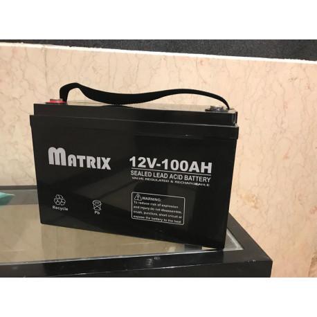 باطری آکبند matrix12v/100a